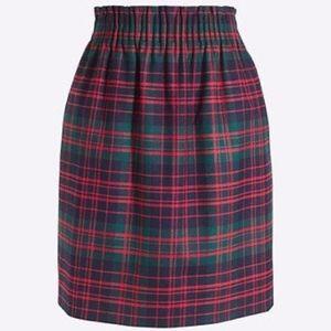 J. Crew Factory Tartan Wool Sidewalk Skirt, Size 2
